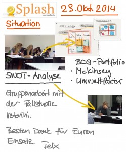 Gruppenarbeit SWOT-Analyse